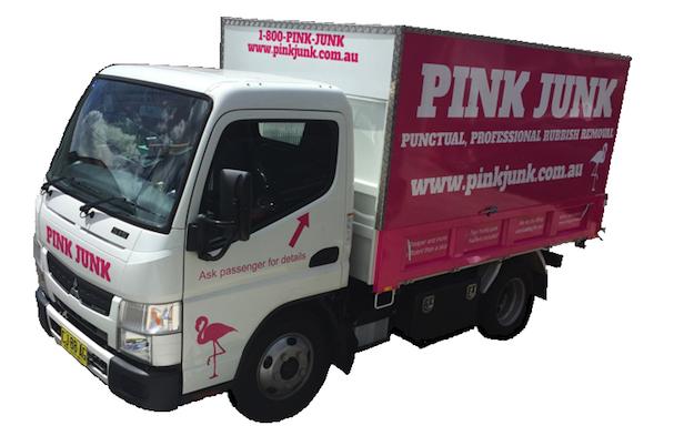 Pink Junk Truck